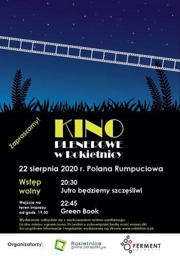 """Plakat promujący wydarzenie """"Kino plenerowe w Rokietnicy"""""""