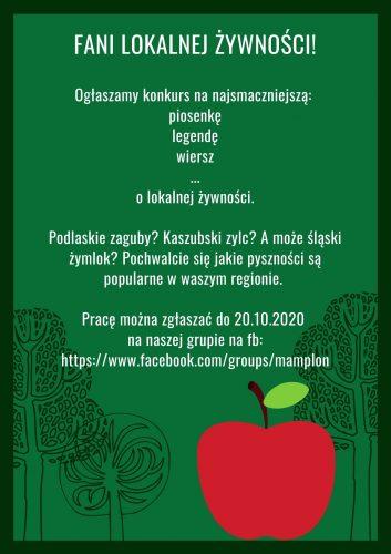 """Plakat konkursu """"Lokalna Żywność w Twórczości Artystycznej"""""""